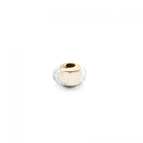 9ct Gold Charm with Clear Glass Bead