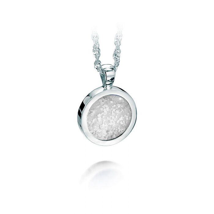 White Gold Pendant with Clear Glass Centre