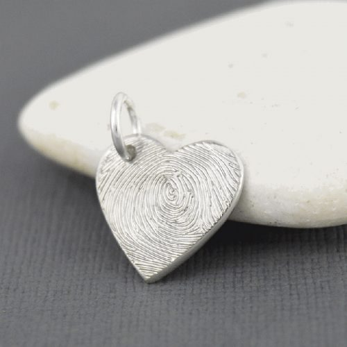 Heart Fingerprint Charm